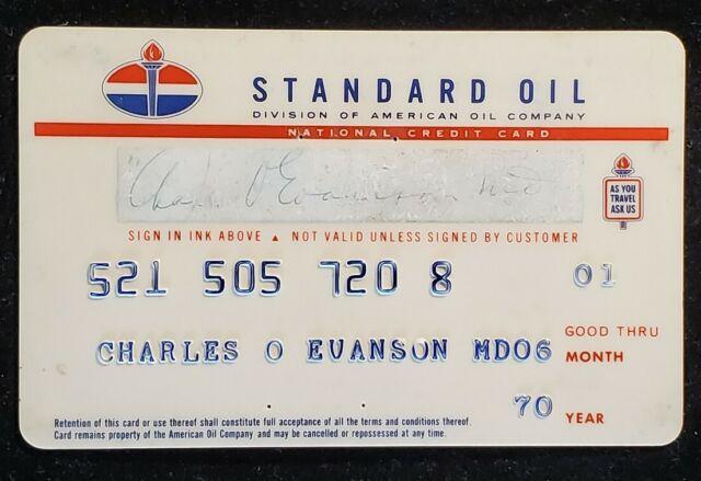 Standard Oil Credit Card exp 1970 ♡Free Shipping♡cc1356 | eBay