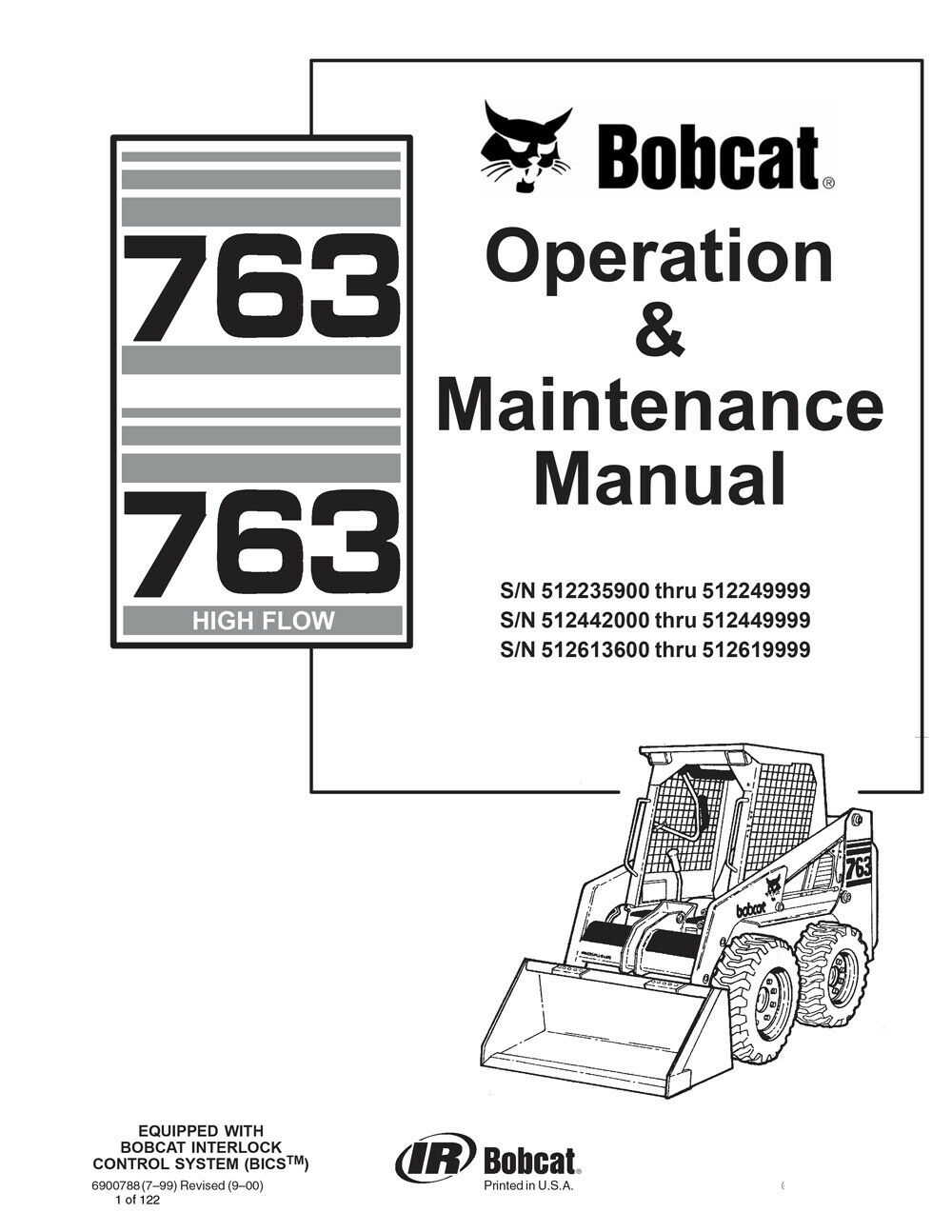 New Bobcat 763 & 763 Highflow Operation & Maintenance