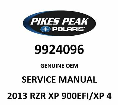POLARIS RZR OEM SERVICE MANUAL,13 RZR XP 900EFI/XP 4