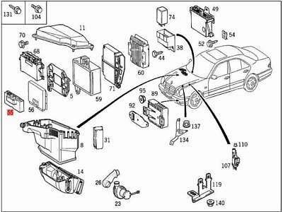Genuine Relay Unit MERCEDES R170 S210 W170 W210 Cabrio