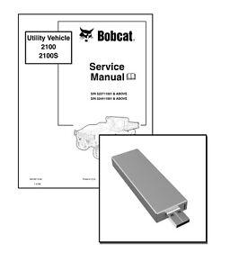 Bobcat 2100 S Utility Vehicle Workshop Repair Service