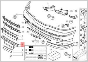 Genuine License Plate Filler Trim Front BMW E39 520d 520i