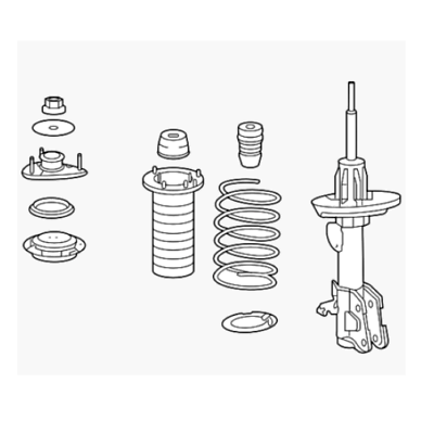 Acura 51602-STX-A06 Shock Absorber Assembly, Left, Front
