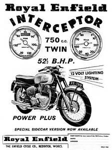 Royal Enfield Interceptor, Vintage Motorcycle advertising