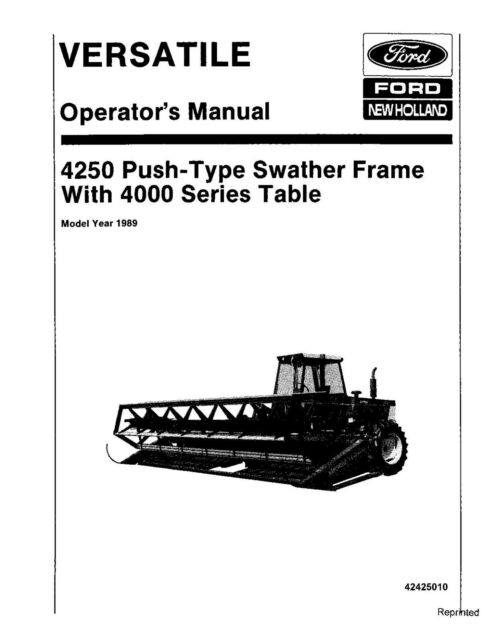 NEW HOLLAND 4250 Push Type Swather Frame for 4000 Srs