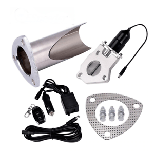 2 25 inch stainless exhaust pipe cutout muffler valve kit with remote control