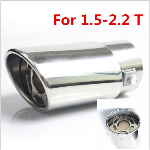 car truck exhaust pipes tips stainless steel car round exhaust pipe tip tail muffler cover styling for honda auto parts accessories