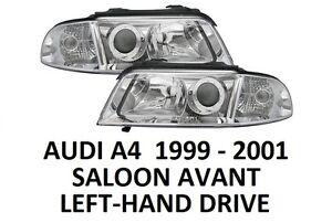 AUDI A4 B5 FRONT HEADLAMPS HEAD LAMP HEADLIGHTS H7 H7 PAIR