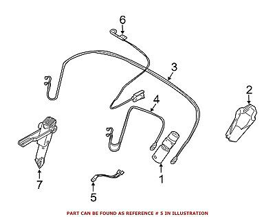 For BMW Genuine Convertible Top Wiring Harness 54347122951