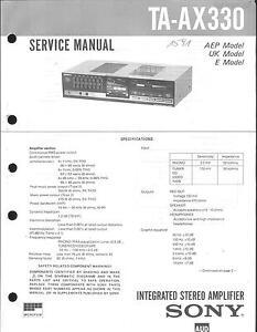 Sony Original Service Manual für TA-AX 330