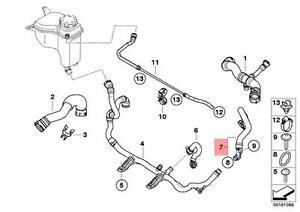 Genuine BMW E81 Hose for Radiator Engine Oil Heat