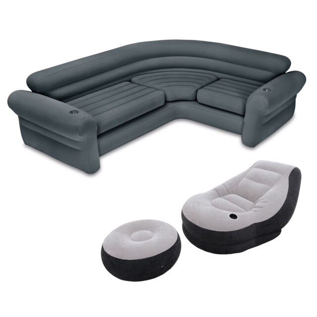 intex ultra lounge chair and ottoman folding bar chairs inflatable corner sectional sofa frequently bought together set