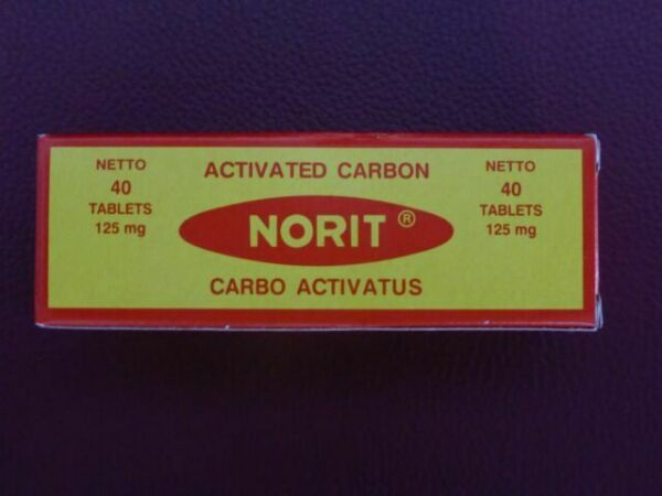 Norit Flatulence Indigestion Activated Carbon Charcoal 40 ...