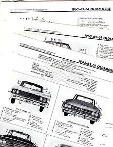 1961 1962 1963 OLDSMOBILE 88 & 98 STARFIRE MOTORS ORIGINAL