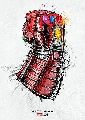 i love you 3000 poster marvel avengers endgame new 2019 free p p choose ur size