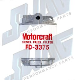 oem genuine ford 6 9 6 9l 7 3 7 3l idi diesel fuel filter housing [ 1500 x 1533 Pixel ]