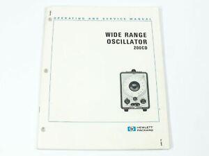 HP 200CD Wide Range Oscillator Operating and Service