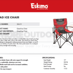 Ice Fishing Chair Shelter Outdoor Patio Furniture Rocking 30619 New Eskimo Quad Folding Fishermen Image Is Loading