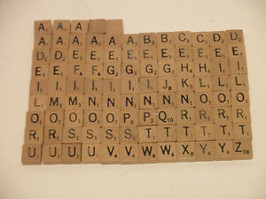 Replacement Wood Tiles Letters DELUXE TRAVEL EDITION