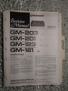 Car Amp Repair : repair, Pioneer, Gm-203, Service, Manual, Original, Repair, Stereo