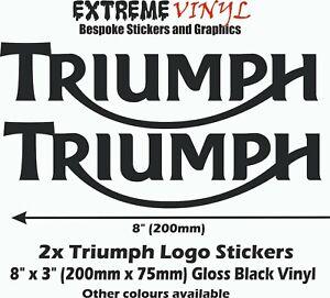 Triumph Logo Decals 2x 8