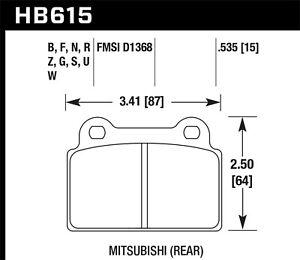 Disc Brake Pad Set-Evolution MR, Turbo Rear fits 08-10