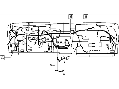 OEM Nissan Altima Main Wiring Harness 2004-05 24010-ZB000