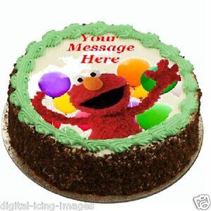 Elmo Cake Topper Edible Image Icing Real Fondant Ebay