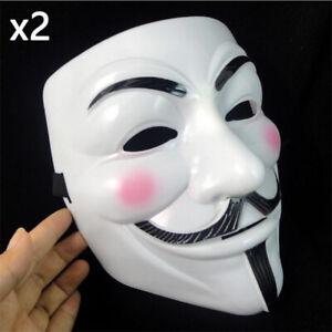Mascara De V De Venganza Guy Fawkes Anonymous Halloween Mascaras Fancy Dress Costume New Ebay