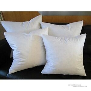 details about euro square pillow insert feather down for shams all sizes rectangle too