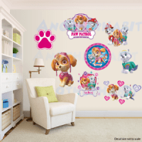 Paw Patrol Room Decor Girls - Wall Decal Removable Sticker ...
