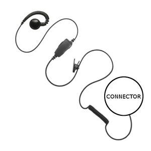 1-Wire Swivel Retail Earpiece PTT Mic Large Speaker for