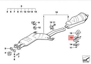 Genuine BMW M5 E32 E34 518i 520i 525i 525ix Rear Silencer