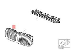 Genuine BMW E36 Cabrio Front Radiator Kidney Grille Right