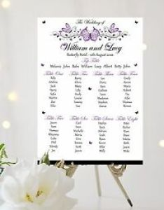 Image is loading butterfly wedding table plan seating sign chart also white ivory rh ebay