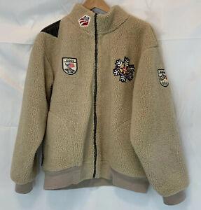 2002 USA ALPINE SKI TEAM ZAH BUU OLYMPIC OLYMPIASTADT Patches Fleece Jacket   eBay
