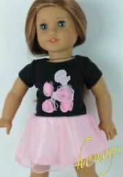 pink poodle dress withhair ribbon