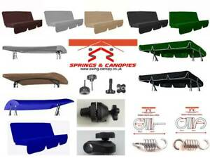 details zu garden swing spare parts replacement canopy cushion fittings springs canopies