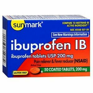 Ibuprofen IB Pain Fever Reliever 200 mg Coated Tablets 50 ...