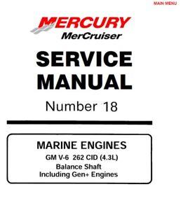 Mercury MerCruiser #18 GM V-6 262 c.i. 4.3L Marine Service