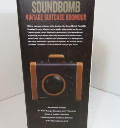 crosley soundbomb portable bluetooth speaker system suitcase blue cr8008a bl ebay [ 1600 x 1200 Pixel ]