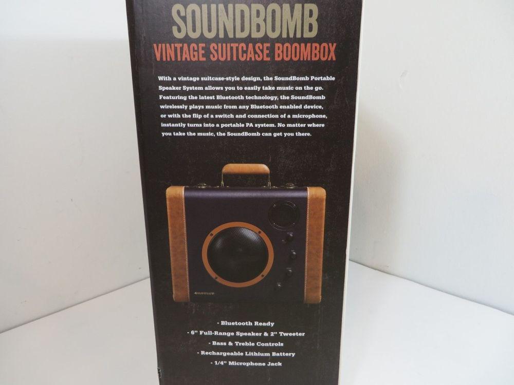 medium resolution of crosley soundbomb portable bluetooth speaker system suitcase blue cr8008a bl ebay