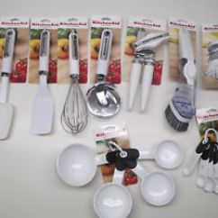 White Kitchen Aid Bobs Furniture Island Kitchenaid Utensils Ebay Image Is Loading