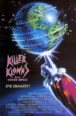 killer klowns from outer space movie poster horror comedy ebay