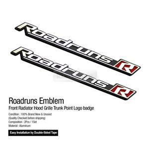 Roadruns Emblem Rear Trunk Front Hood Grille Point Logo