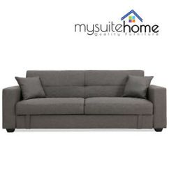 Contemporary Fabric Sofas 2 Cushion Sofa Bed Erica Click Clack 3 Seater Lounge With Image Is Loading
