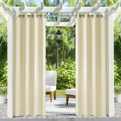 6pack 50x120in uv ray outdoor indoor patio curtain panel thick waterproof fabric ebay