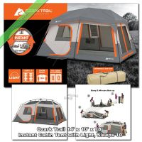 Ozark Trail 10 Person 14' x 10' Instant Cabin Tent 2 Room