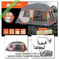 Ozark Trail 10 Person 14' x 10' Instant Cabin Tent 2 Room ...