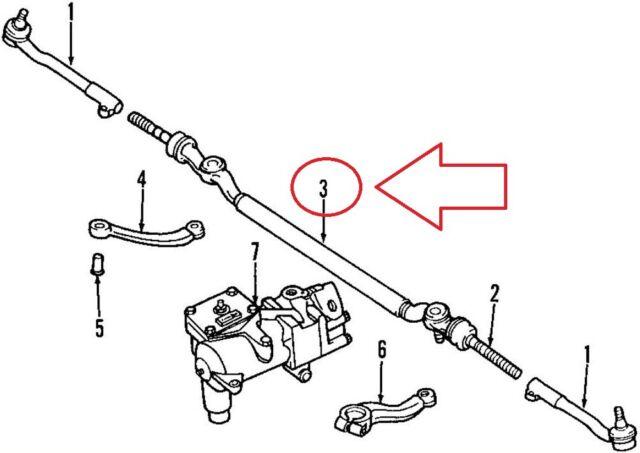 NEW BMW 5 E39 540I CENTER TIE ROD 32211096060 1096060 1997